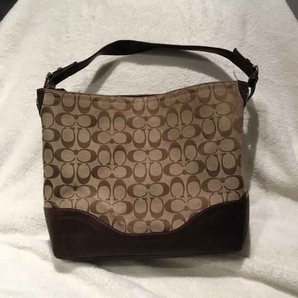 Coach Handbags - Coach Signature Handbag Purse